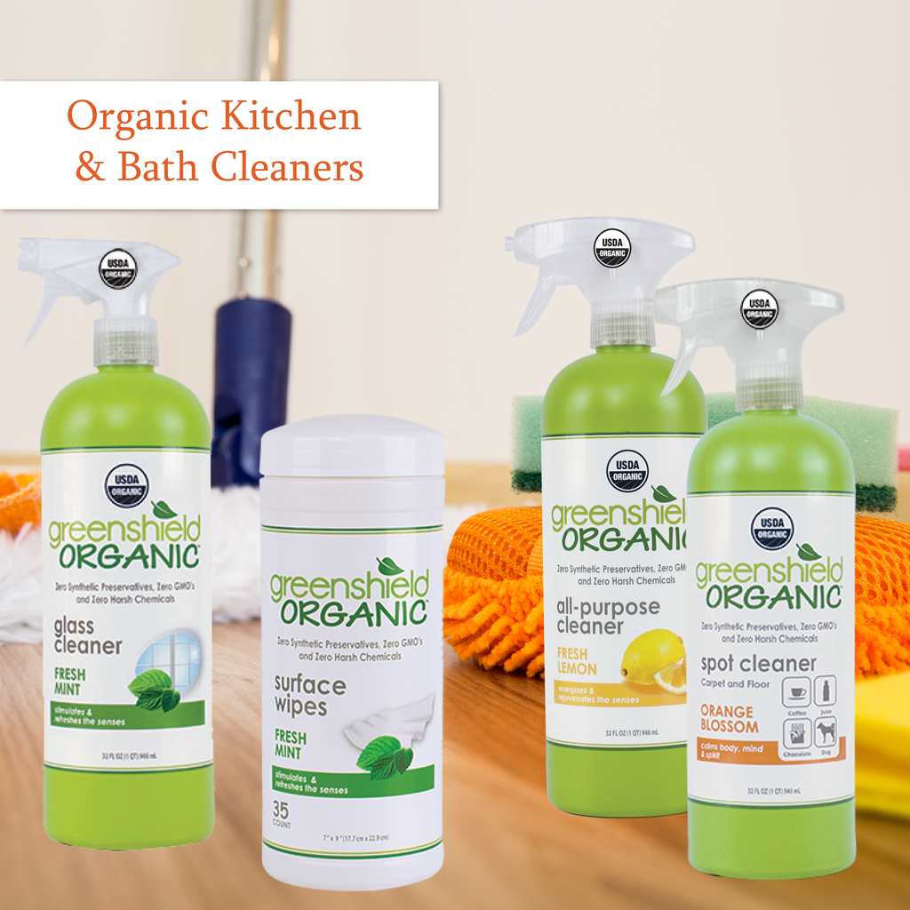 organic kitchen cleaner organic bathroom cleane green