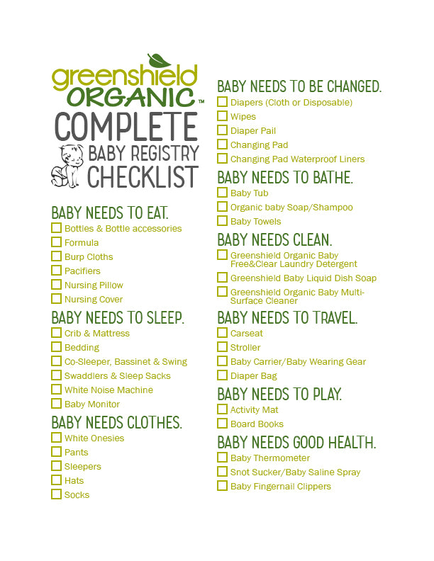 The Complete Baby Registry Checklist