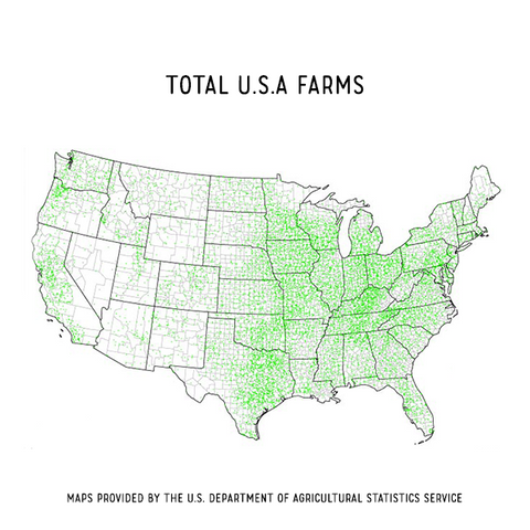 GMO Map of total US farms