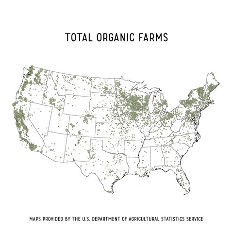 GMO Map of total US organic farms