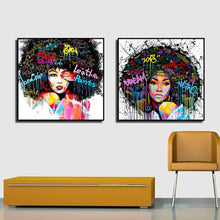 Afro-lady-oil-canvas-wall-art-painting-living-room-bedroom-1