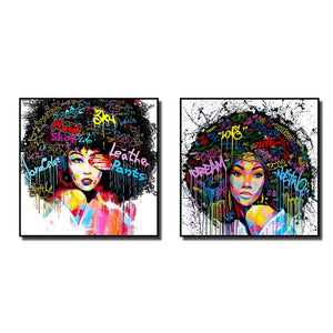 Afro-lady-oil-canvas-wall-art-painting-living-room-bedroom-2