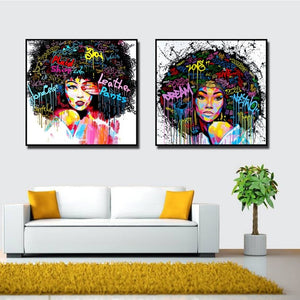 Afro-lady-oil-canvas-wall-art-painting-living-room-bedroom-3