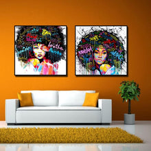 Afro-lady-oil-canvas-wall-art-painting-living-room-bedroom-4