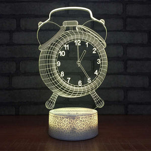 Colour Changing Clock Projector Night Lamp