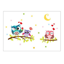 Cute-Cartoon-Owl-Wall-Decals-study-room-bedroom-4