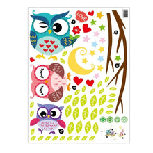 Cute-Cartoon-Owl-Wall-Decals-study-room-bedroom-5