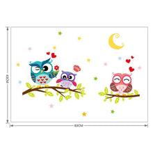 Cute-Cartoon-Owl-Wall-Decals-study-room-bedroom-6
