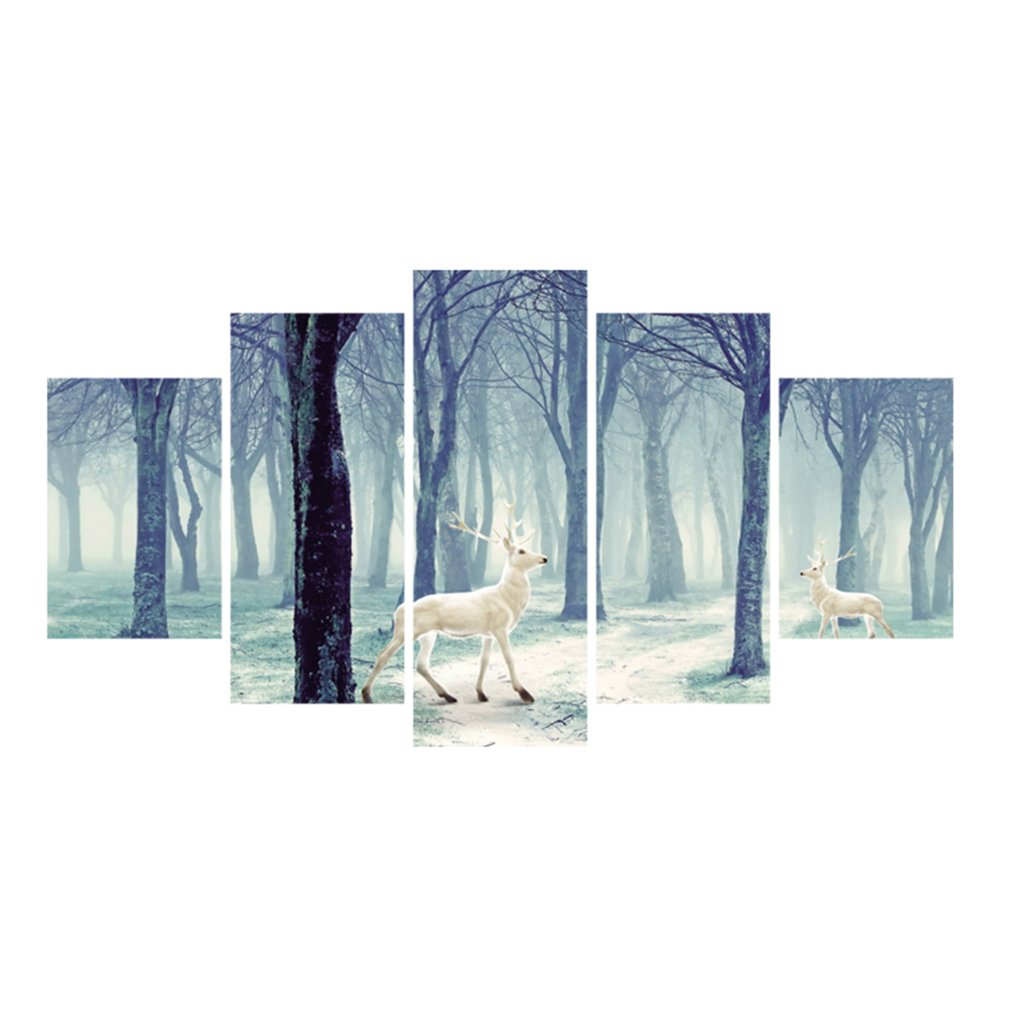 Deer-or-pastoral-scenery-oil-canvas-wall-art-painting-1
