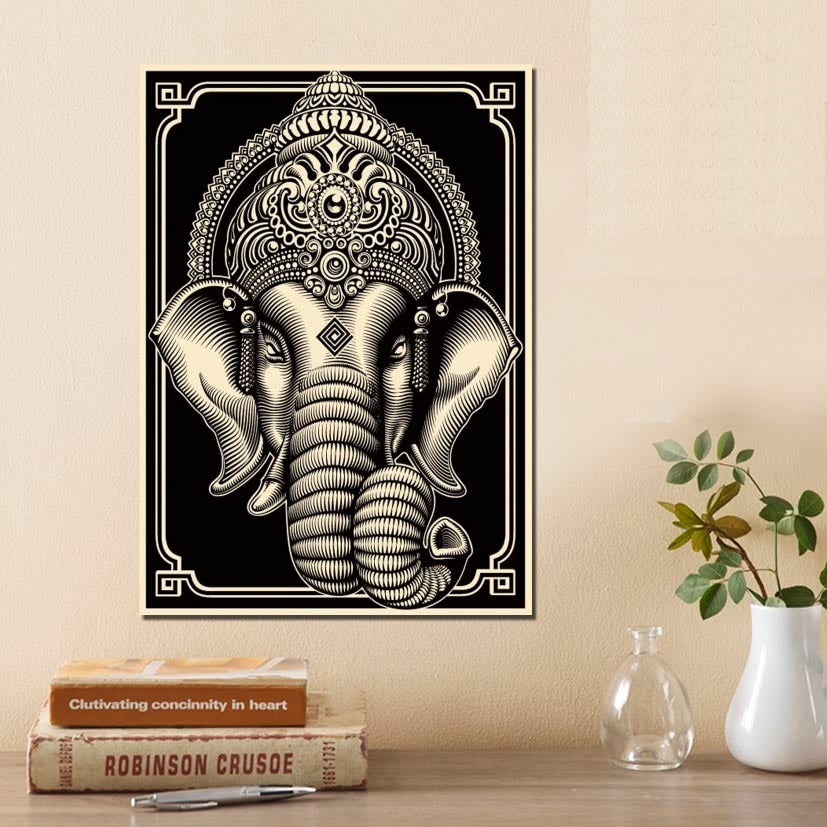 Ganesha-Hindu-God-Printed-Canvas-Wall-Art-Poster-main
