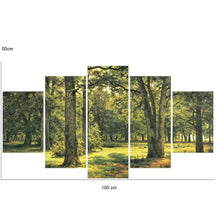 Green-or-yellow-forest-corridor-canvas-wall-pattern-3