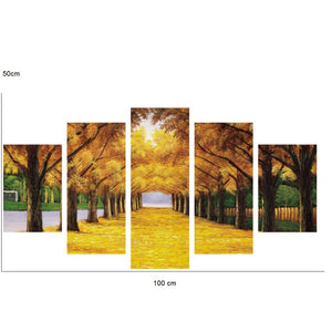 Green-or-yellow-forest-corridor-canvas-wall-pattern-6