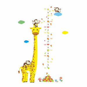 Cartoon-Giraffe-Height-Measurement-Wall-Stickers-3