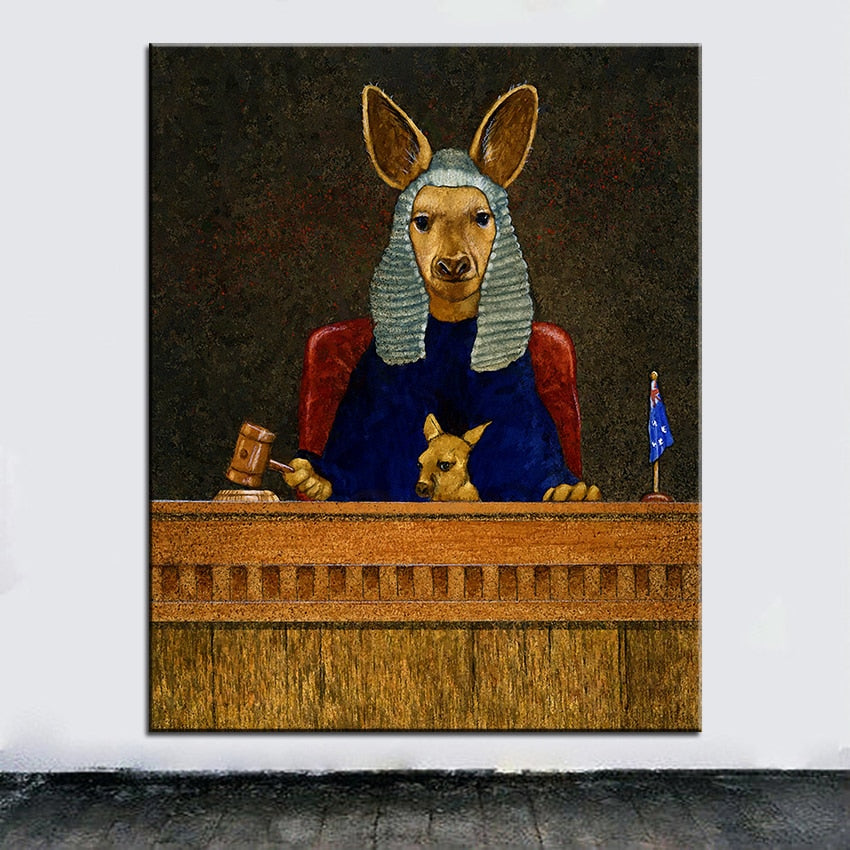 Kangaroo-Canvas-Oil-Painting-Canvas-Wall-Art-1