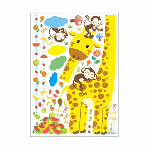Cartoon-Giraffe-Height-Measurement-Wall-Stickers-2