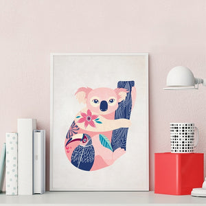 Koala-and-Toucan-Canvas-Wall-Art-2