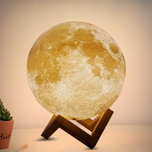 New-Rechargeable-LED-Night-Light-Moon-Lamp-3D-Print-Moonlight-Bedroom-Home-Decor-2-Colors-Touch-review-1