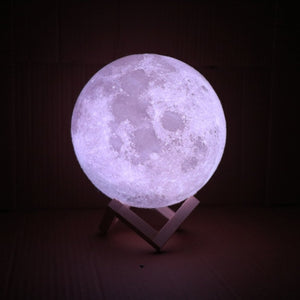 New-Rechargeable-LED-Night-Light-Moon-Lamp-3D-Print-Moonlight-Bedroom-Home-Decor-2-Colors-Touch-review-6