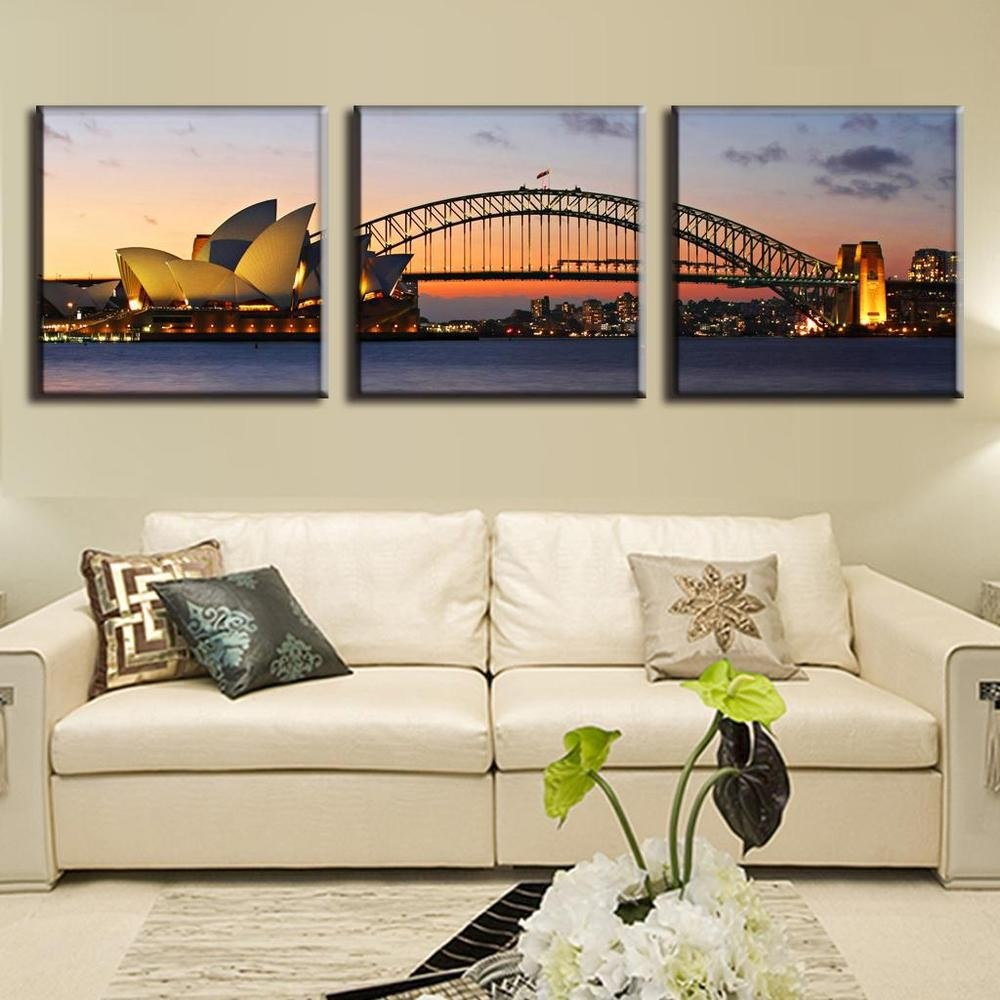 Opera-House-with-Sydney-Harbour-Bridge-Canvas-Wall-Art-1