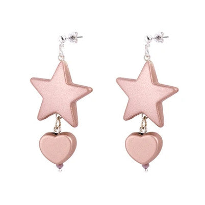 Star-Heart Blush Drop Earrings - melissacurry