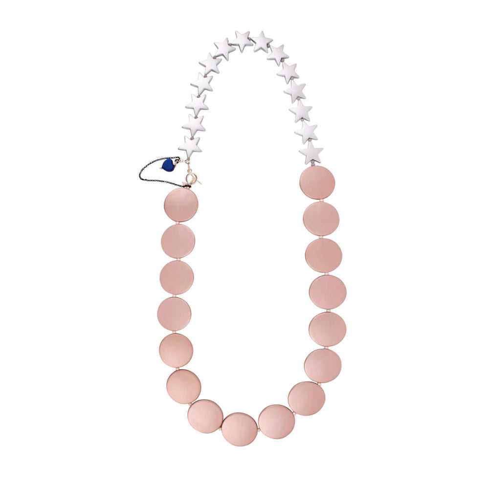 Blush and Silver Sailor Necklace