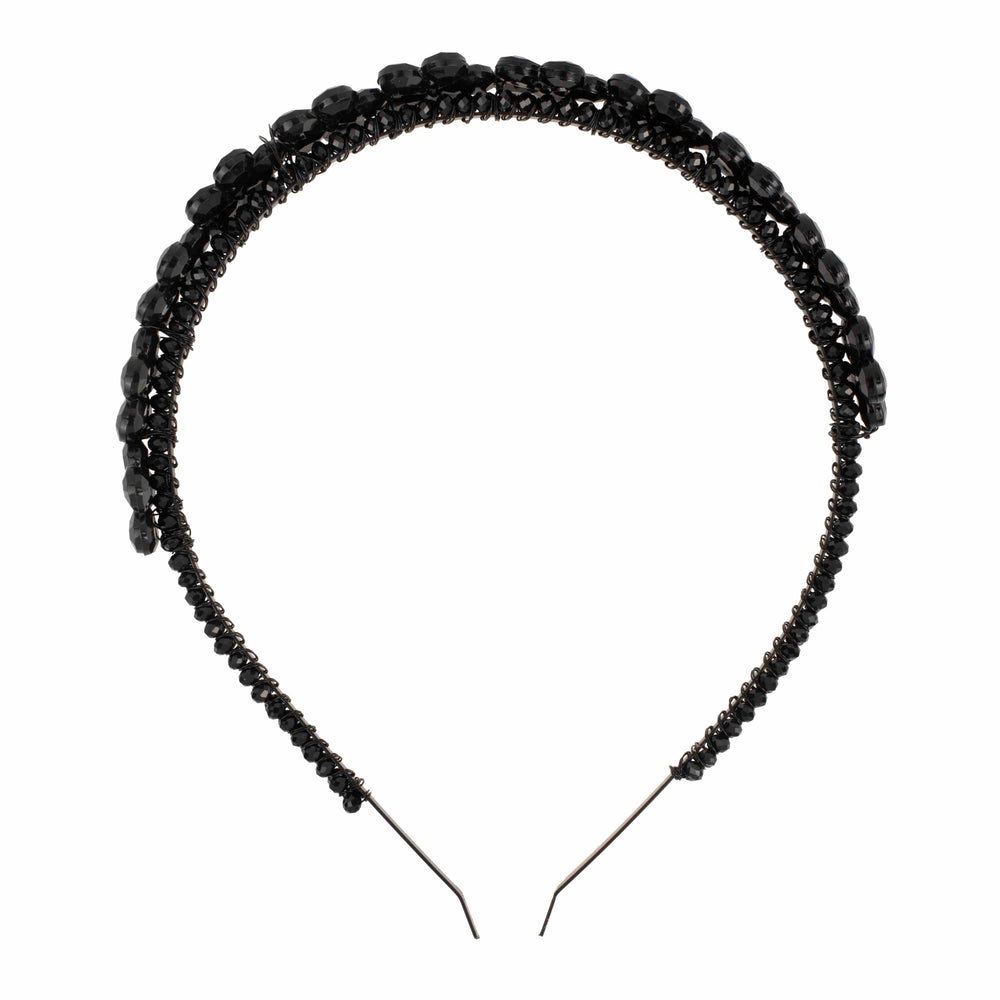 Black Floral Head Band - melissacurry