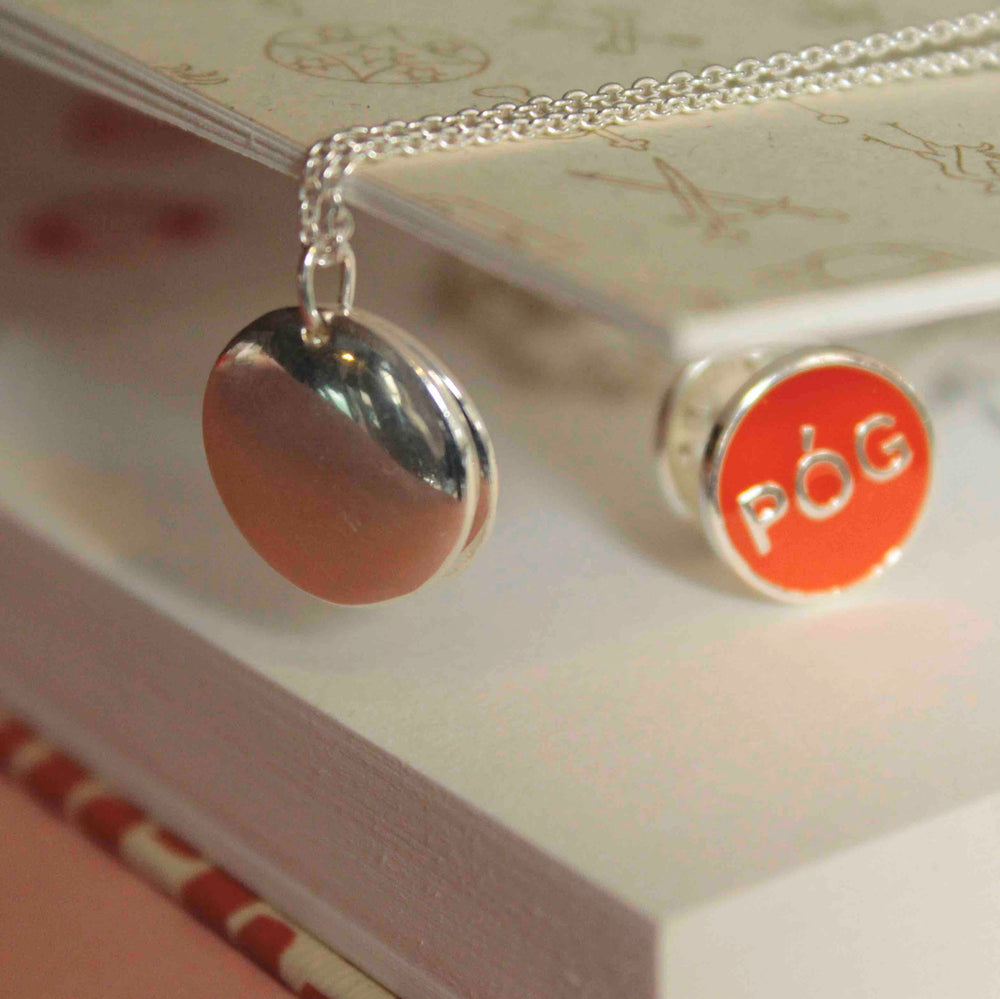 Póg Locket ( with a hidden kiss ) - melissacurry