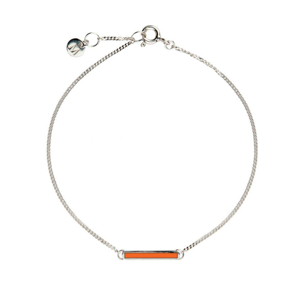Orange Little Bar of Strength - Wrist (Sterling Silver) - melissacurry