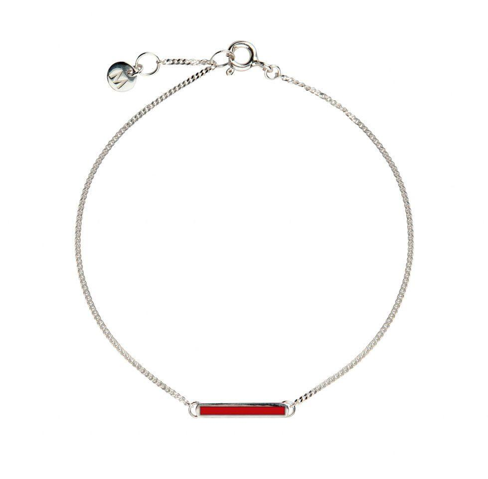 Little Bar of Strength - Wrist (Sterling Silver) (Available in 8 Colors) - melissacurry