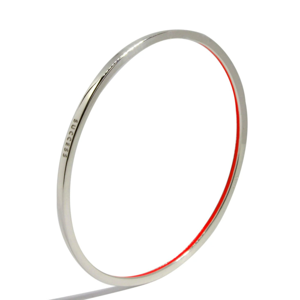 Success Bangle (Sterling Silver) (Available in 7 colors)