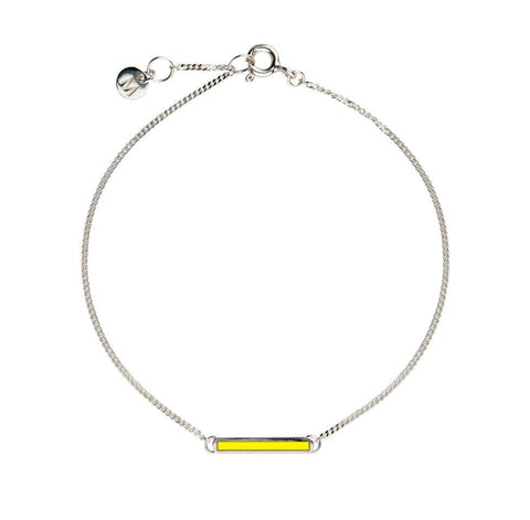 Yellow Little Bar of Strength - Wrist (Sterling Silver)