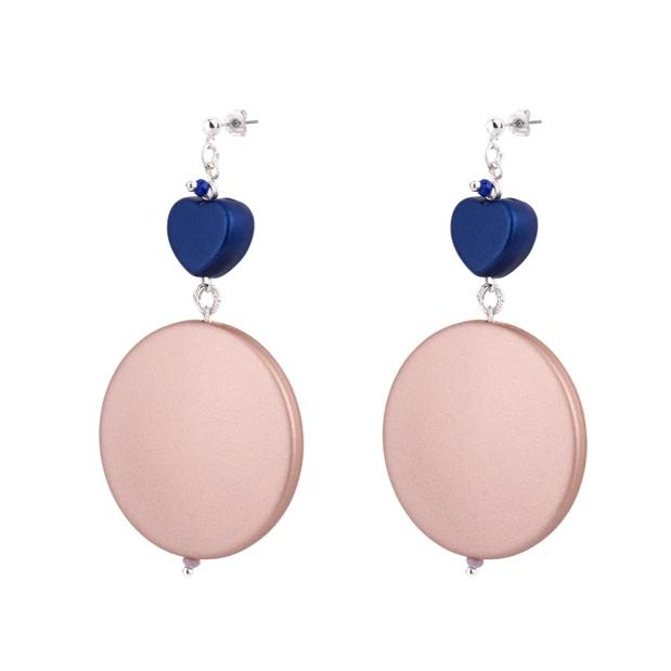 Blush and Blue Earrings