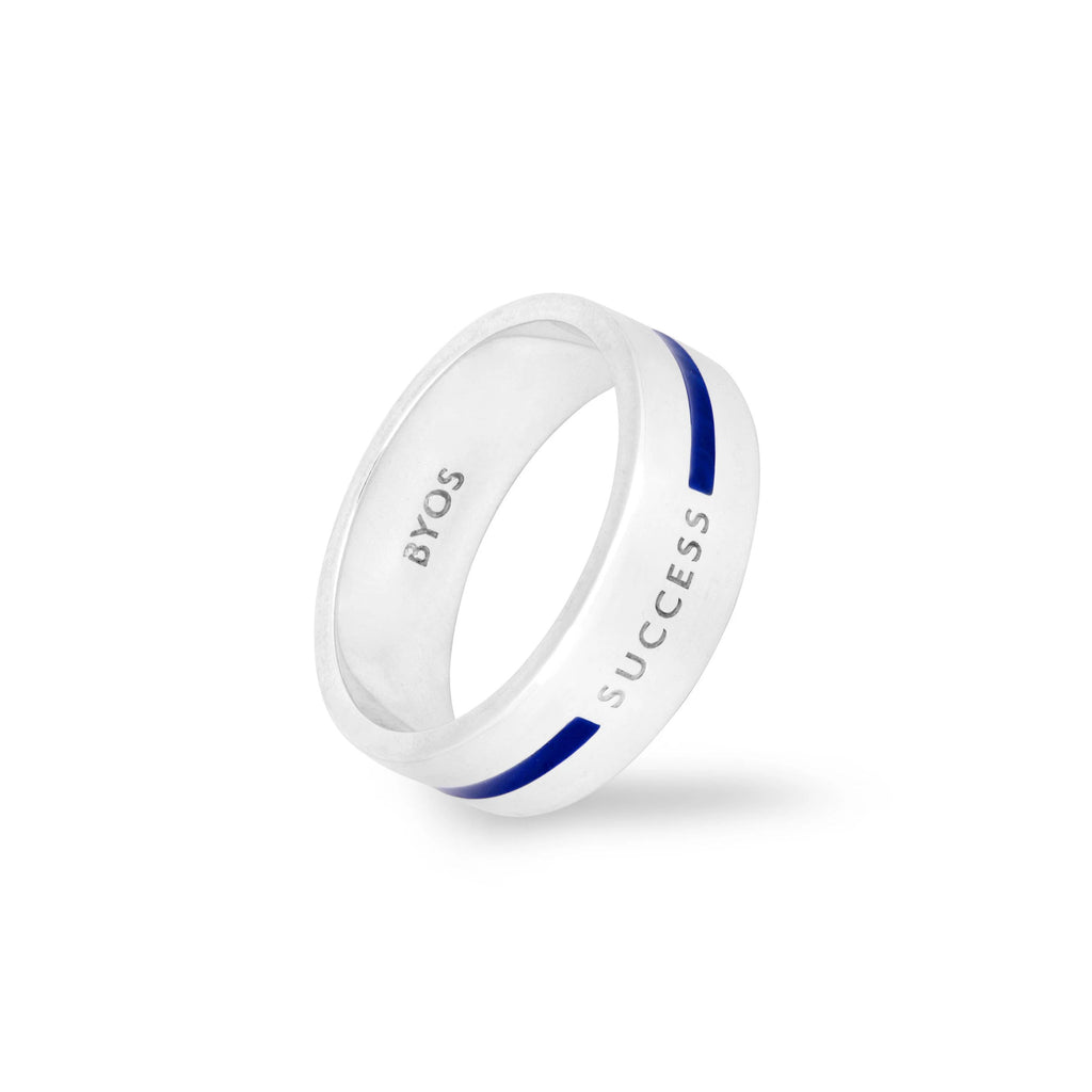 Success Band Ring For Men (Blue)