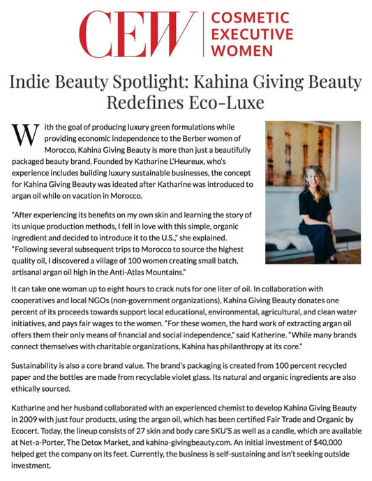 KAHINA Featured in CEW Magazine