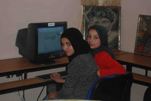 Girls at Dar Asni learn valuable computer skills outside of school