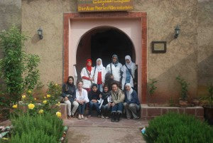 With the girls of Dar Asni
