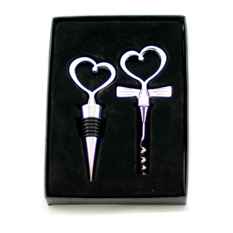 Two Piece Corkscrew & Winestopper Gift Set