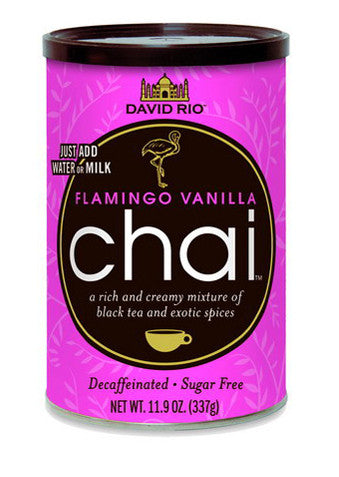 David Rio Flamingo Vanilla Decaf Sugar Free Chai, 11.9oz
