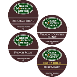 Regular Variety K-Cup Coffee Sampler, 88 K-Cups @ $15.50/22pk