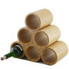 Six Bottle Bamboo Wine Rack