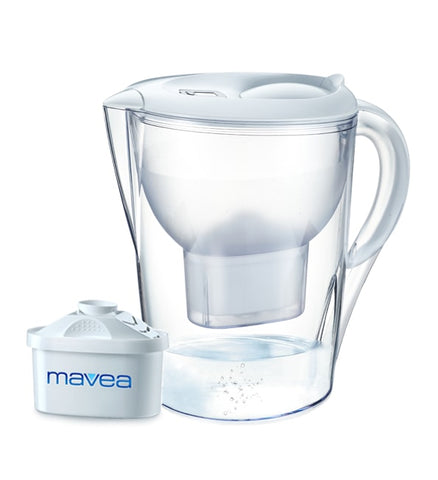 Aquavero Water Filter Pitcher, Aspen White