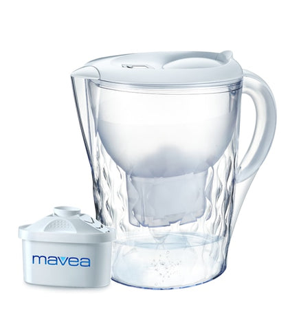 Aquavero Water Filter Pitcher, Everest White