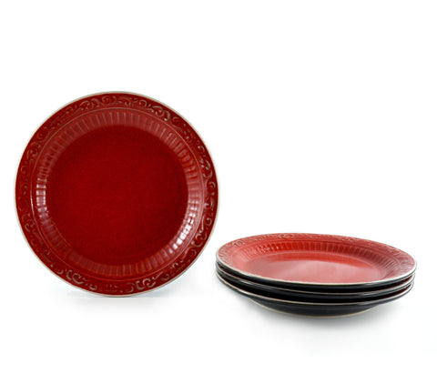Rosso Appetizer & Dessert Plates, Set of 4