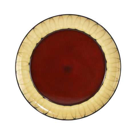 Soleil Red Charger Plate 13