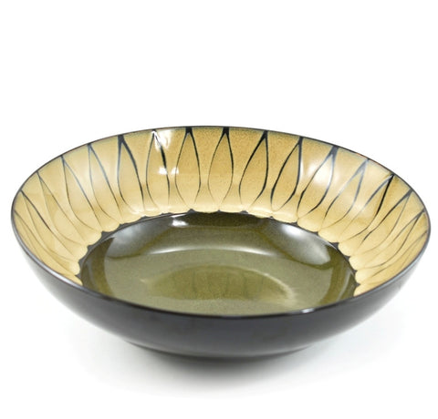 Soleil Serving Bowl in Green, 13