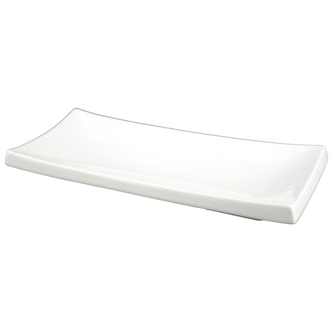 White Tie Oblong Sushi Plate, 11½