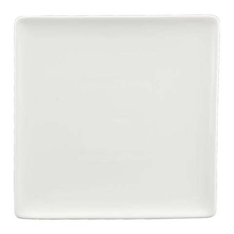 White Tie Flush Square Plate, 7
