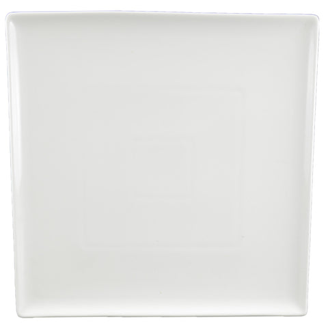 White Tie Flush Square Plate, 10