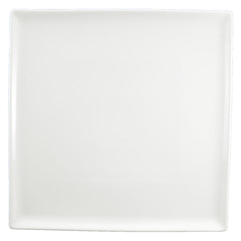 White Tie Flush Square Plate, 12