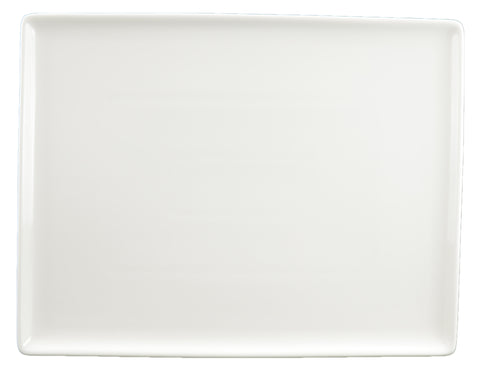 White Tie Flush Rectangle Plate, 12